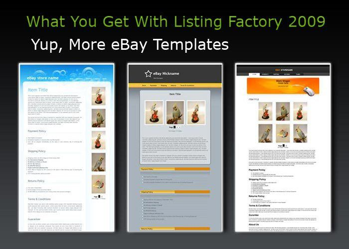 Free eBay Auction Templates from Template-O-Matic.com