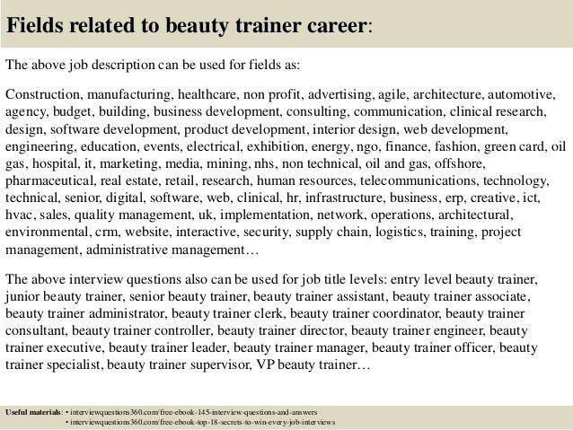 job description for cosmetology cosmetologist job description