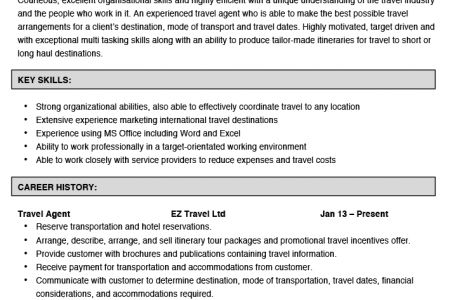 insurance agent resume examples travel agent resume examples ...