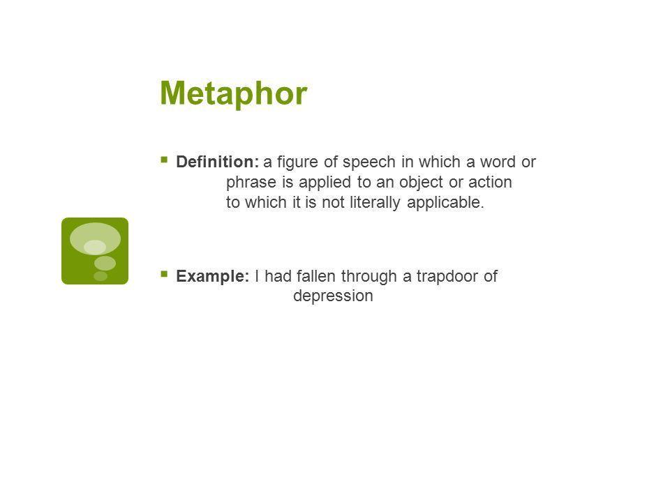 Figurative Language Defined and Explained. Simile  Definition: a ...