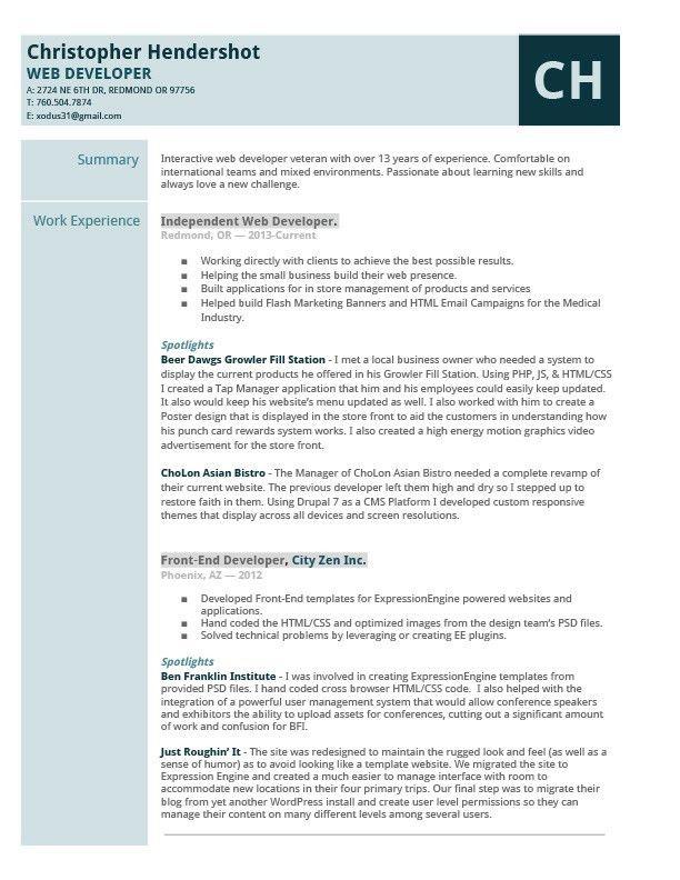 web developer resume sample unforgettable web developer resume
