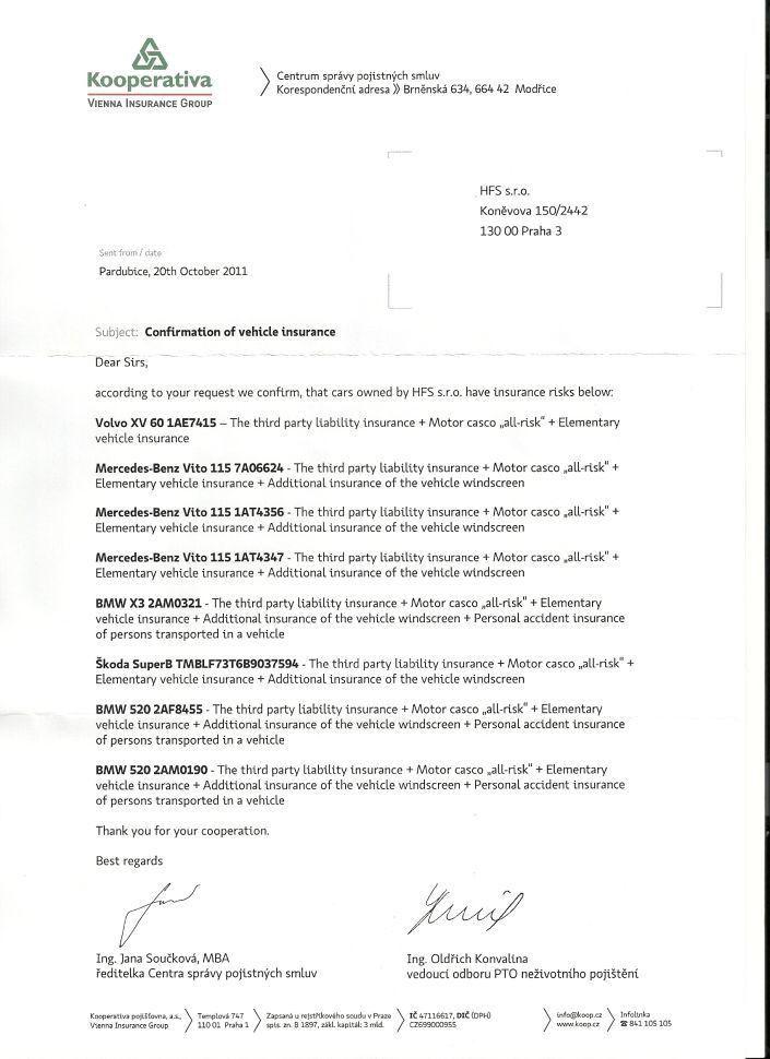 Auto insurance certificate - Car insurance company logos