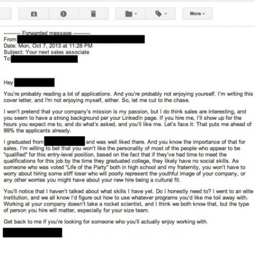 10 terrible cover letters from across the internet | Graduate Blog