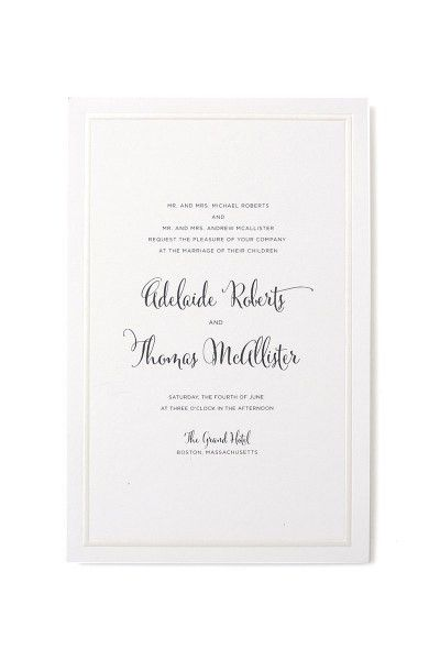 Pearl Foil Border Print at Home Invitation Kit | Gartner Studios
