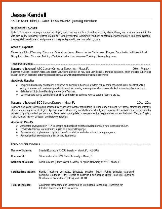 teaching resume objective | moa format