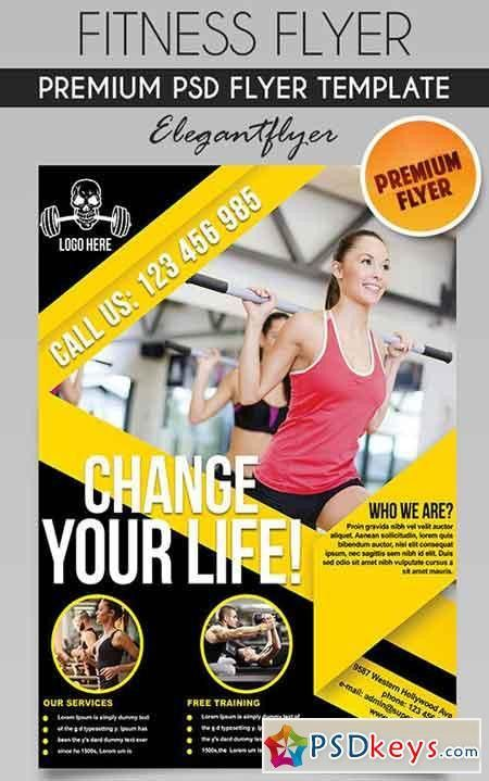 Fitness Flyer PSD Template + Facebook Cover » Free Download ...