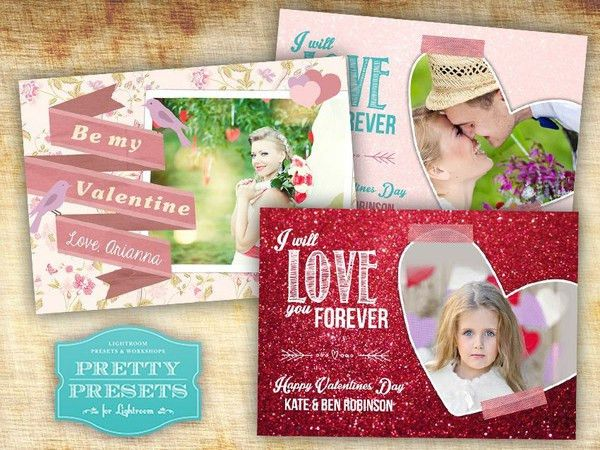 Free Photoshop Templates for Valentine's Day Cards! | Pretty ...