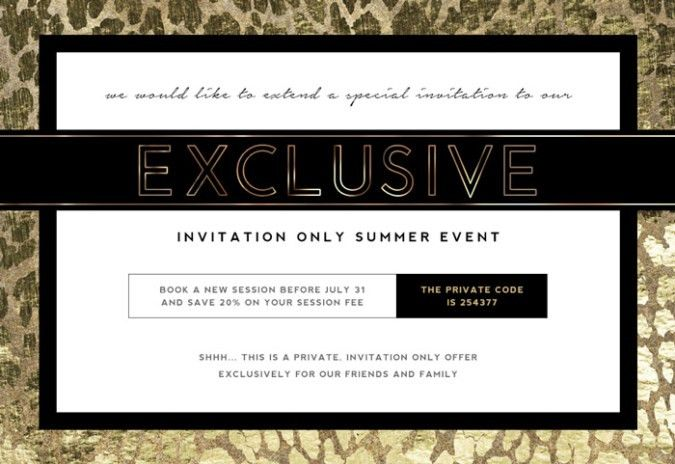 Photographer Marketing Template: Invite Only Sales Event