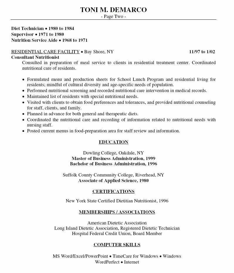 Download Sample Resume For Food Service Manager ...