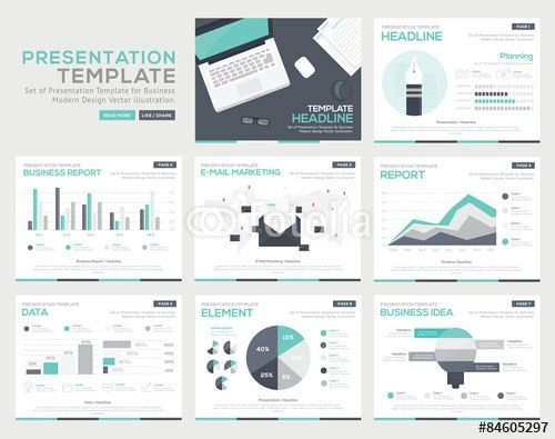 Vector: Set of infographic Presentation Template , Infographic ...