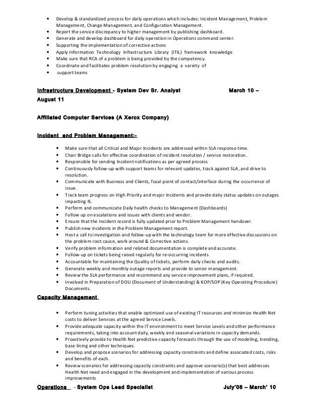 Configuration Manager Sample Resume - Resume Templates
