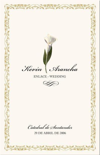 Spanish Wedding Program Examples-Catholic Wedding Program-Wedding ...