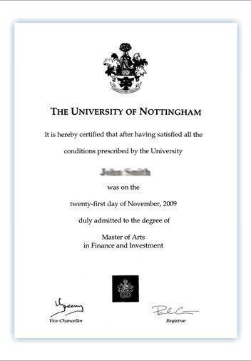 Your degree certificate - The University of Nottingham Ningbo ...