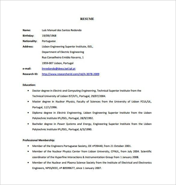 SEO Executive Resume Template – 12+ Free Word, Excel, PDF Format ...