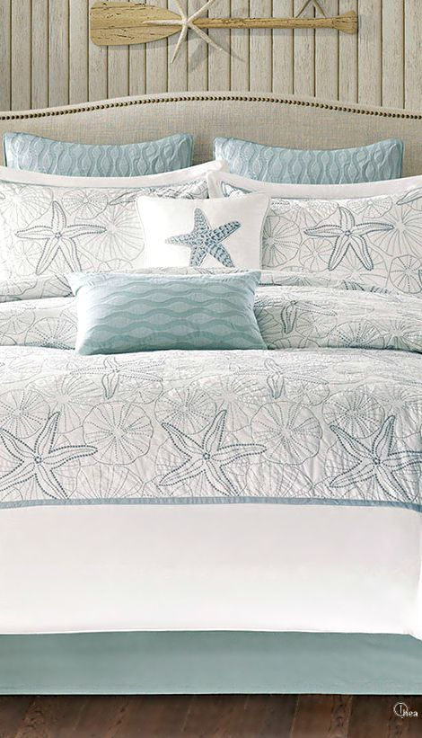 1000 images about coastal bedding and linens on pinterest for Beach house decor items
