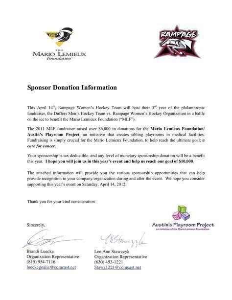 17 Event Sponsorship Letter Samples | Non-profit resources ...