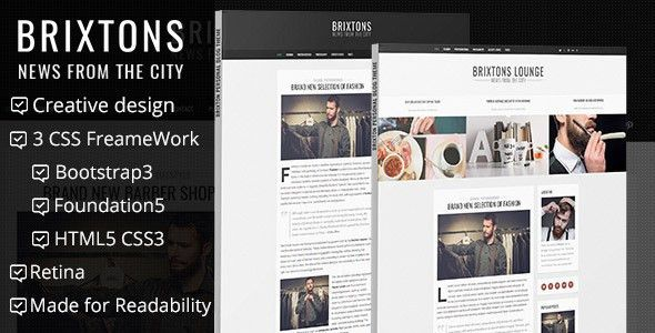 Brixton - Minimal & Personal HTML Blog Template by htmlbeans ...