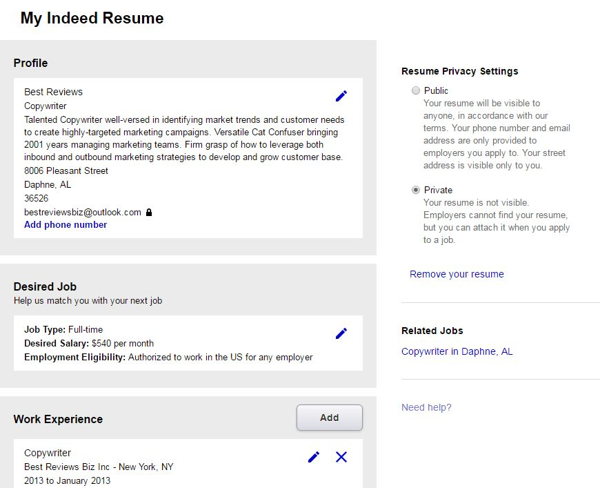 Download Indeed Resume Builder | haadyaooverbayresort.com