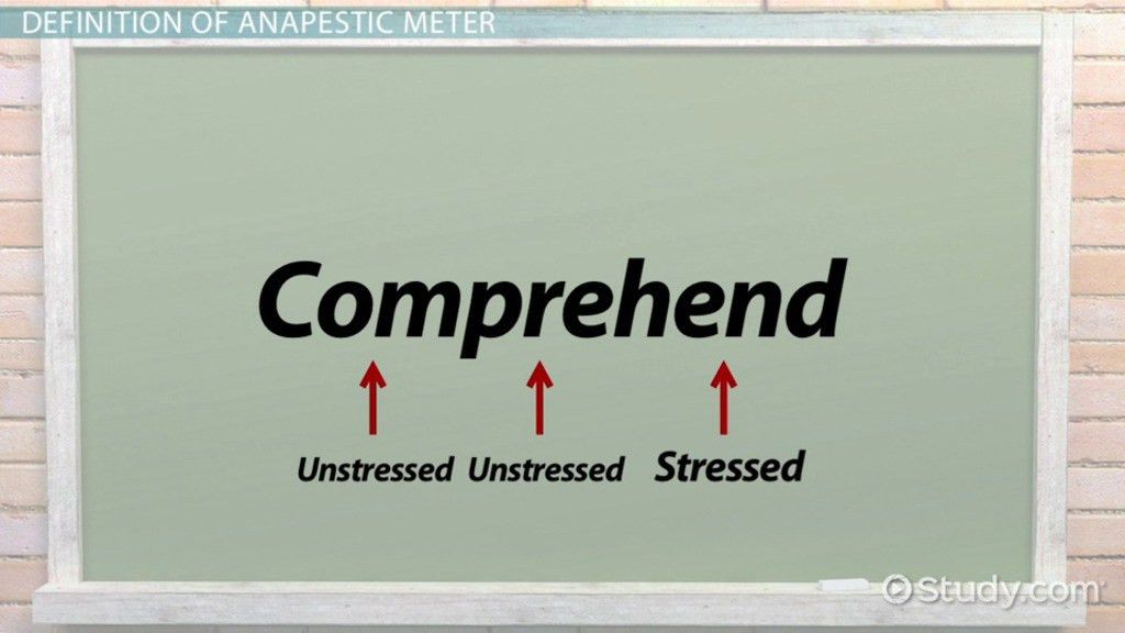 Anapestic Meter: Definition and Poetry Examples - Video & Lesson ...