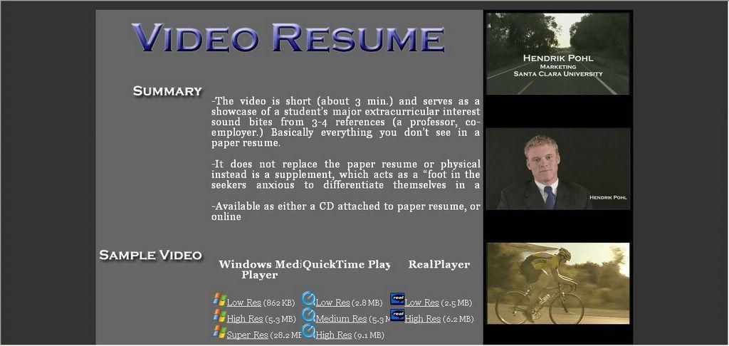 video resume examples berathencom