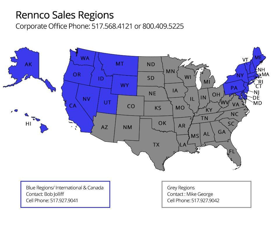 Locate A Sales Representative - Rennco