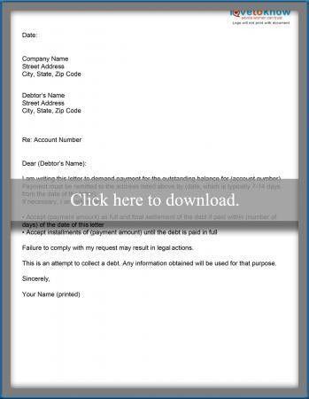 Sample Letter for Credit Card Debt Settlement