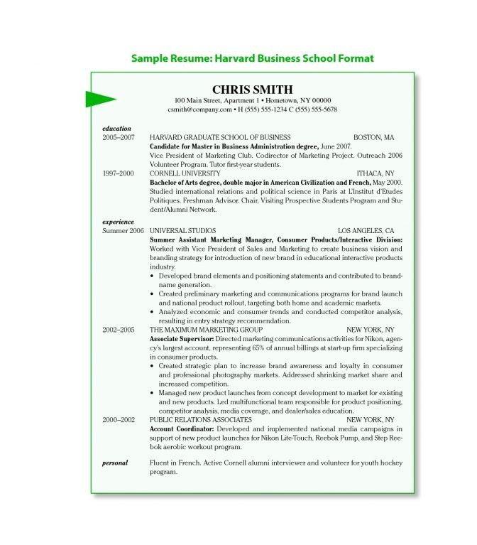 Harvard Business School Resume - Best Resume Collection