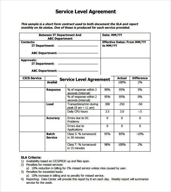 Service Level Agreement. Sla-Escalation Service Level Agreements ...