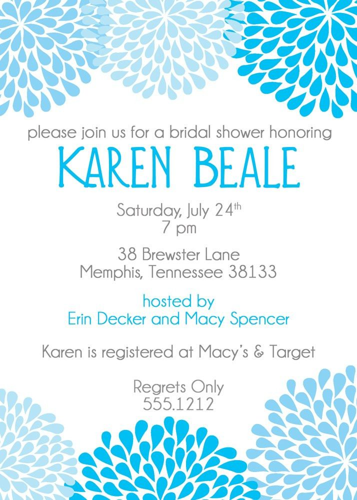 Bridal Shower Invitations Card Design Idea for Party - Registaz.com