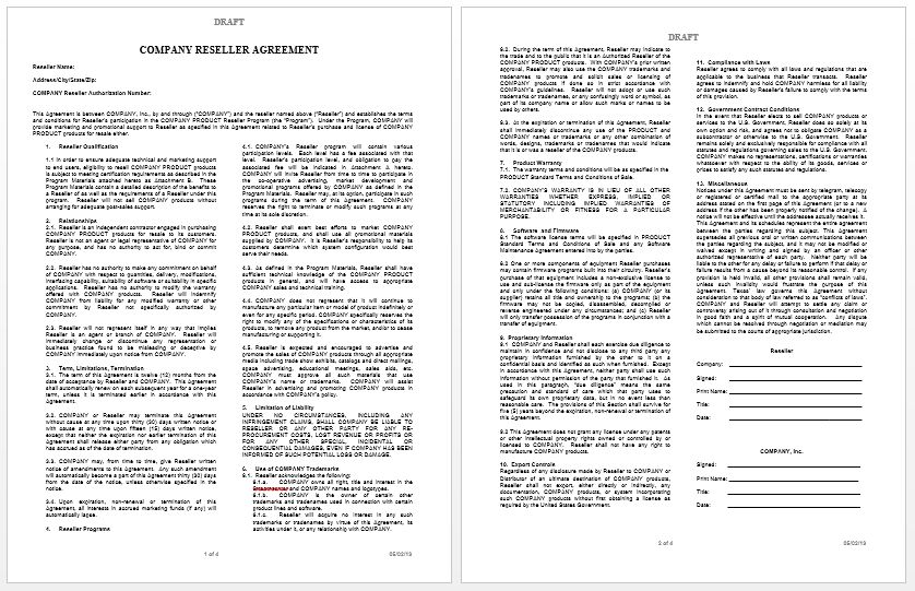 Private Label Agreement Template | Microsoft Word Templates