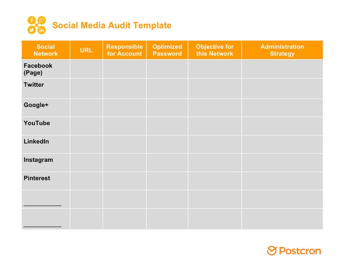 Social Media Strategy Template - download free documents for PDF ...