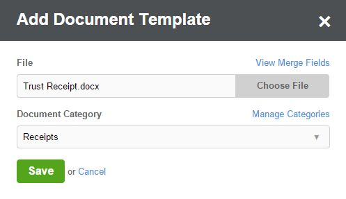 Tutorial - Using Document Automation to Create a Trust Receipt ...