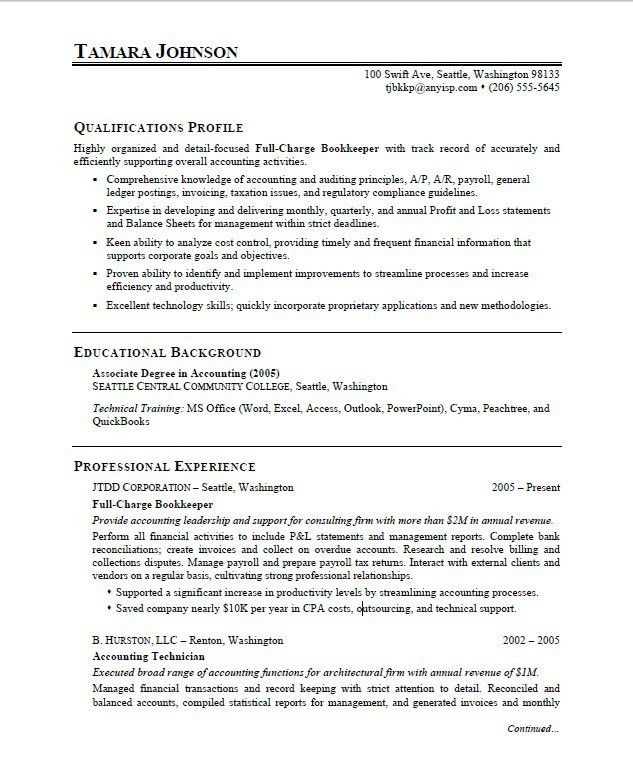 resume bookkeeper objective student bookkeeper resume this sample ...