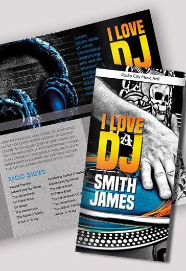 DJ Press Kit – Premium Tri-Fold PSD Brochure Template – by ...