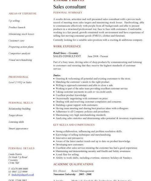 Consultant Resume Sample - CV Resume Ideas