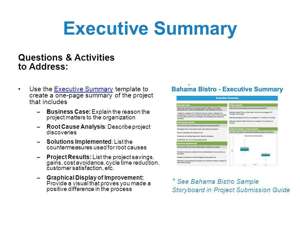 one page summary template - Josemulinohouse - project executive summary template