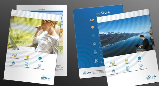 Single Page Brochure Design for Broadband Internet, VoIP & Data ...