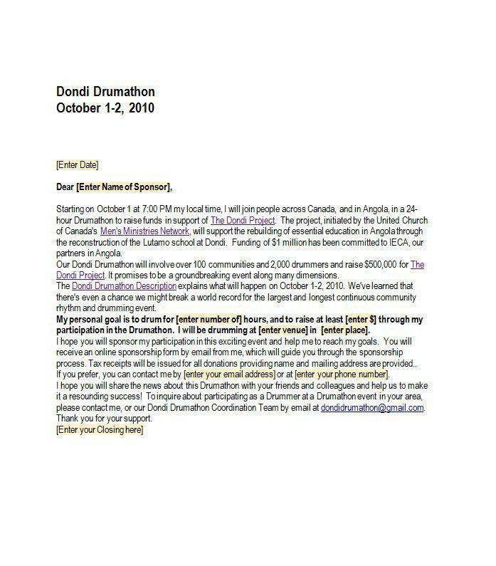 41 Free Sponsorship Letter & Sponsorship Proposal Templates – Free ...