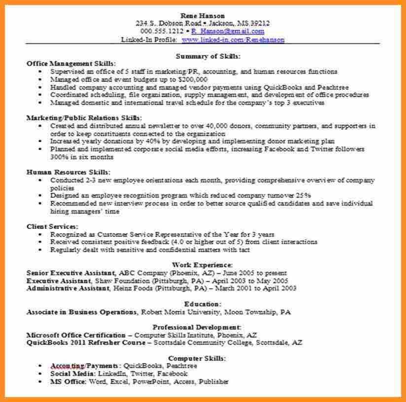10+ job skills examples for resume - application leter