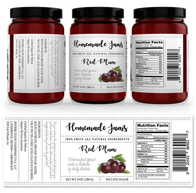 Red Plum Jam Label Template http://www.dlayouts.com/template/1047 ...