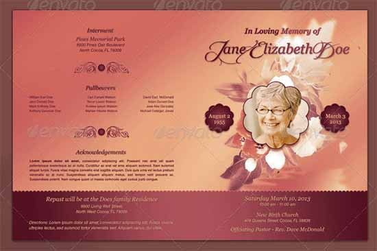 Free Memorial Templates - Word - Excel Templates