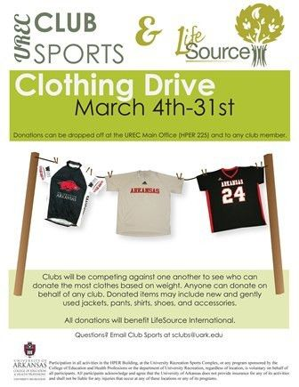 Second Annual Clothing Drive by Club Sports to Support LifeSource ...