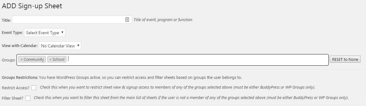 PTA Volunteer Sign Up Sheet Groups – Stephen Sherrard Plugins