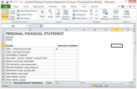 9+ Financial Statement Templates - Excel Templates