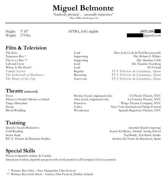 theatrical director resume theater resume template 6 free word