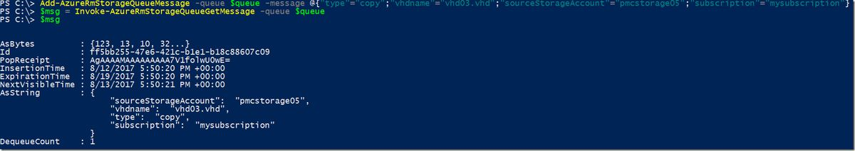Working with Azure Storage Queues from PowerShell – Paulo Marques