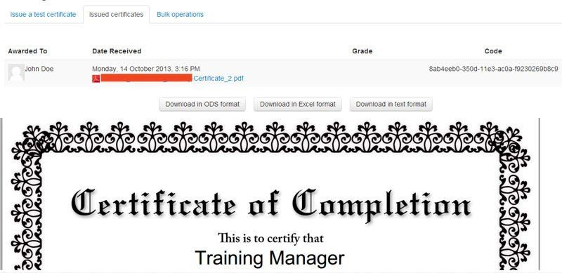 Moodle in English: New activity: Simple Certificate