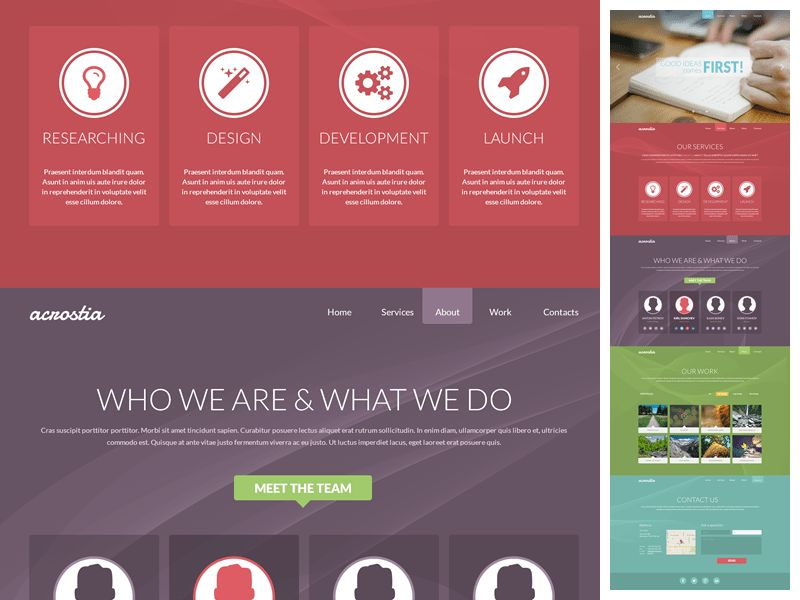 bootstrap 3 one page template for free shuffle theme demo ...