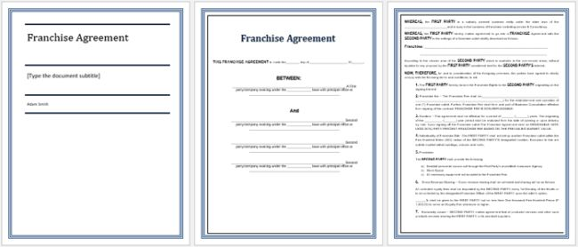 5+ Franchise Agreement Templates to Write a Perfect Agreement