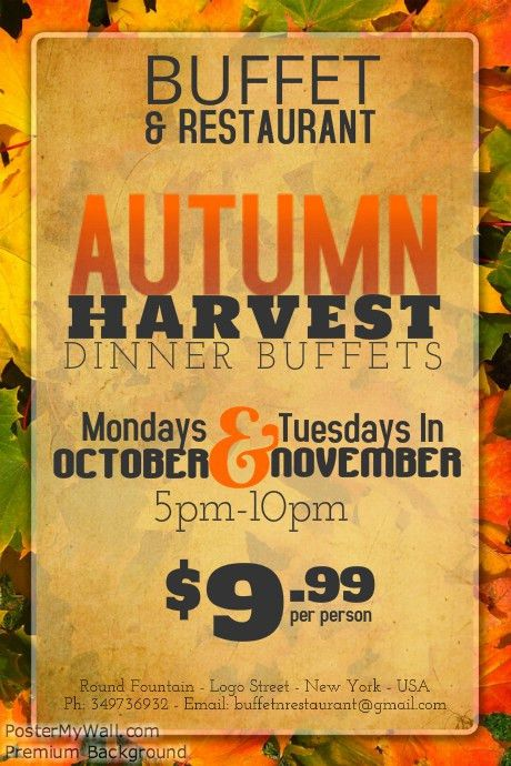 Autumn Harvest Event Flyer Template | PosterMyWall